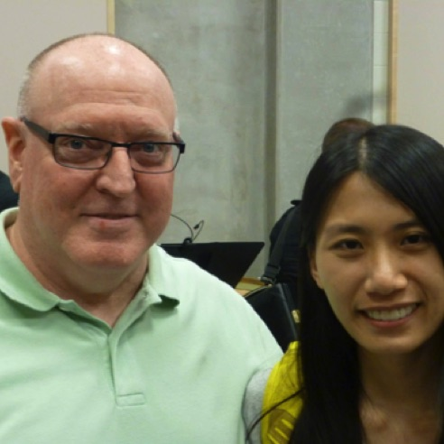 With composer fellow Celia Chan at the 2015 nief-norf Summer Festival in Knoxville, Tennessee (June 2015)
