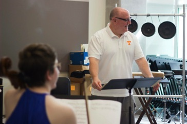"Rehearsing ""224 slices of pi"" at the 2015 nief-norf Summer Festival in Knoxville, Tennessee"