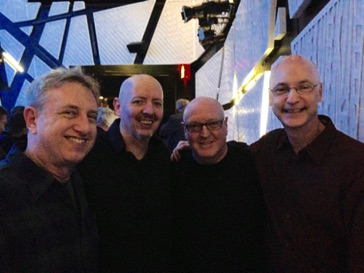With fellow VCFA'ers Rick Baitz, Reed Robbins and John Fitz Rogers at National Sawdust in Brooklyn, NY May 2016
