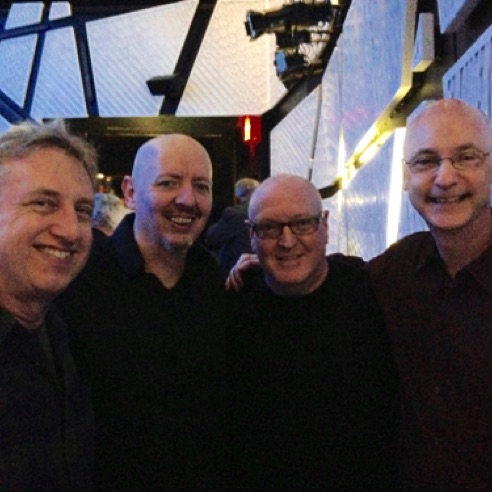 With fellow VCFA'ers Rick Baitz, Reed Robbins and John Fitz Rogers at National Sawdust in Brooklyn, NY (May 2016)