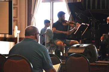 "During a rehearsal of ""Divinitus"" at Vermont College of Fine Arts August 2013"
