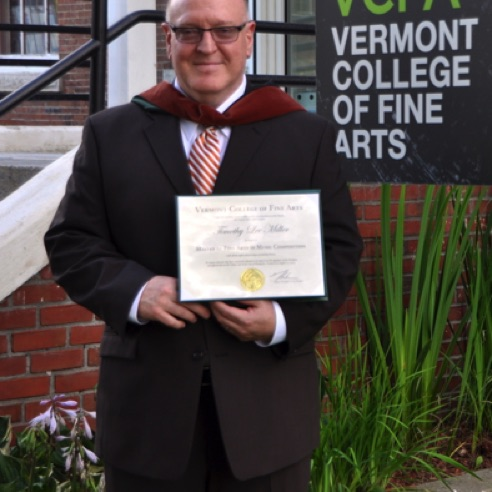Graduation from Vermont College of Fine Arts with an MFA degree in Music Composition - (August 2013)