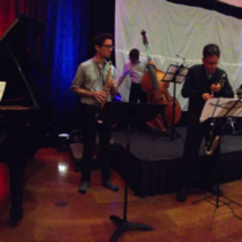 Presenting two new jazz quintets at the Coral Gables Museum (September 2015)