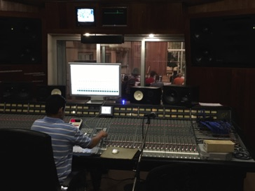 The control room of Studio B at Abdala Studios in Havana, Cuba in November 2015.