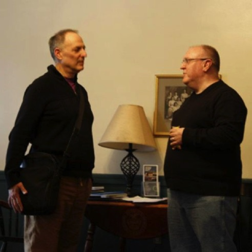 With film composer Don DiNicola at Vermont College of Fine Arts (February 2012)
