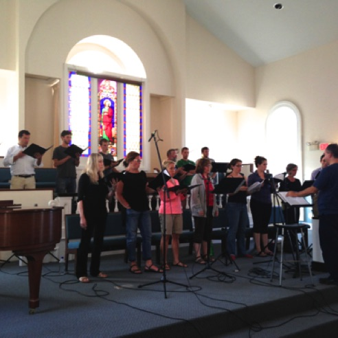 Recording Jubilate Deo with the Composer's Choir in Middletown, Connecticut  (August 2013)