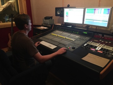 "Bill Stevens mixing ""Something More"" at Ovation Sound in Winston-Salem, NC in May 2016"