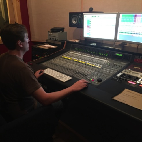 "Bill Stevens mixing ""Something More"" at Ovation Sound in Winston-Salem, NC (May 2016)"