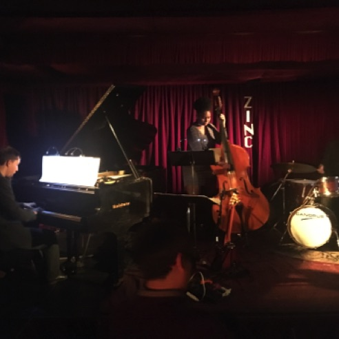 Performance of jazz trios by Thomas Linger, End Owens & Chales Goold at Zinc Bar in New York City (November 8, 2017)