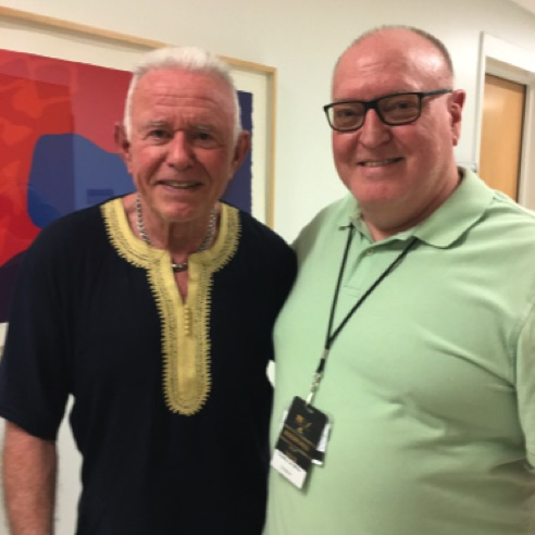 With composer David Del Tredici at the Most Modern Festival in Saratoga Springs, New York (June 2018)