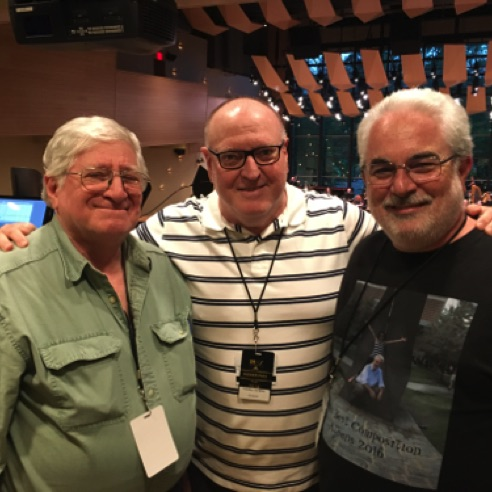 With fellow composers Eugene Marlow and Scott Eggert at the Mostly Modern Festival in Saratoga Springs (June 2018)