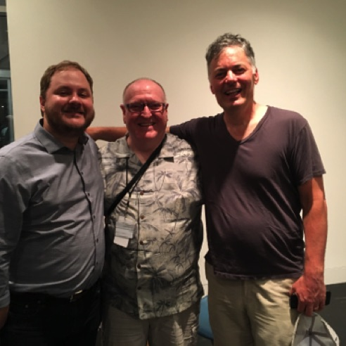 With composers Stephen Cabell and Steve Juliani at the Mostly Modern Festival in Saratoga Springs, NY (June 2018)