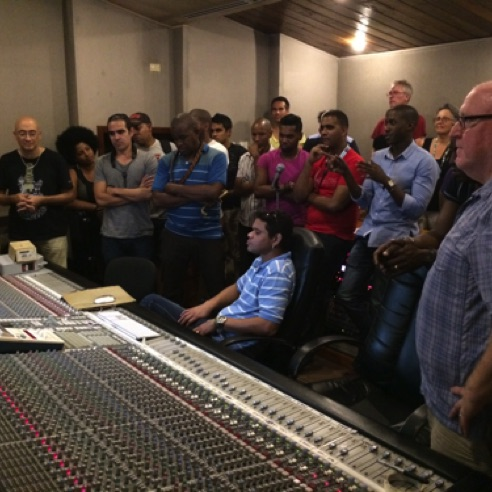 Listening to the playback of 'Hot Miami Nights' with the whole band, fellow composers and Parma executives in Havana, Cuba (November 2015)