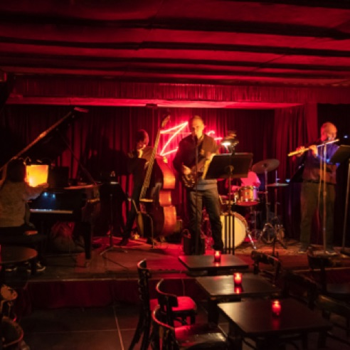 "The NYCC Jazz Ensemble performed ""On An Autumn Day"" at Zinc Bar in New York City (March 6, 2019)"