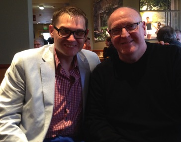 With composer to the Royals, Paul Mealor in St Andrews, Scotland April 2014