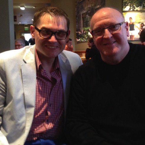 With composer to the Royals, Paul Mealor in St Andrews, Scotland (April 2014)