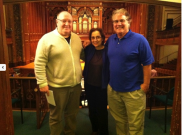 With composers Tamar Diesendruck and Ted Mann in Boston November 2012