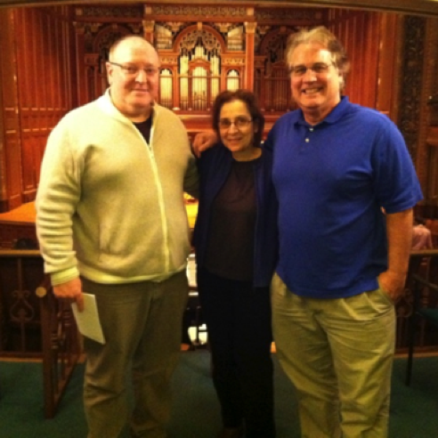 With composers Tamar Diesendruck and Ted Mann in Boston (November 2012)