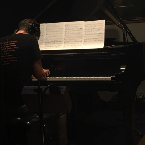 "Thomas Linger soloing on ""Poochie's Waltz"" during a session at Swinney Recording in New York (September 14, 2017)"