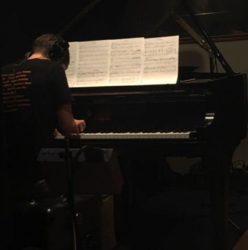 "Thomas Linger soloing on ""Poochie's Waltz"" during a session at Swinney Recording in New York on September 14, 2017"