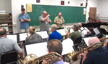 Rehearsing the Vermont Jazz Ensemble in August 2012