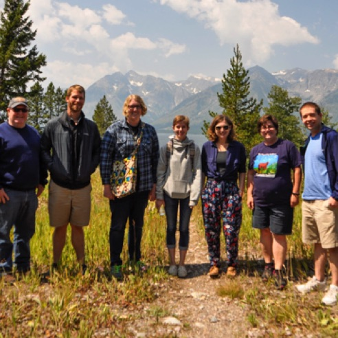 The composer fellows of the 2017 Wyoming Festival: New Music in the Mountains at Grand Teton National Park (August 2017)