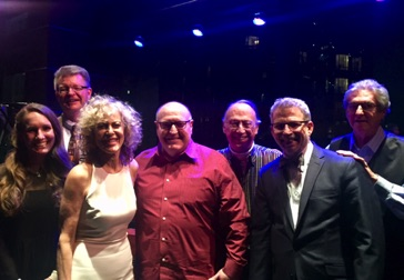 With singer Judy Carmichael, Jeffrey Papas, Chris Cox and fellow UT alums at Dizzy's Club Coca-Cola March 2018