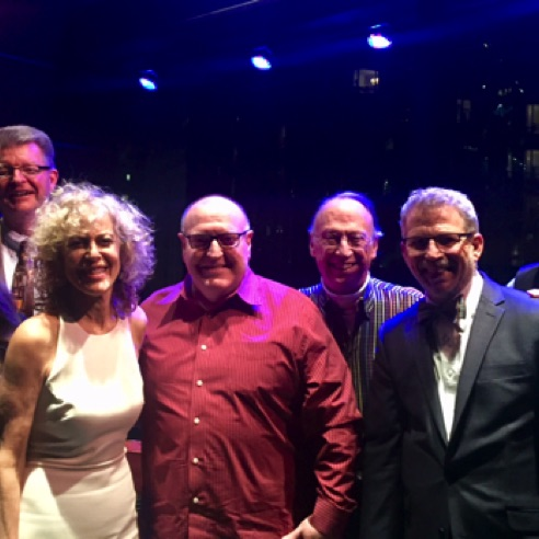With singer Judy Carmichael, Jeffrey Papas, Chris Cox and fellow UT alums at Dizzy's Club Coca-Cola (March 2018)