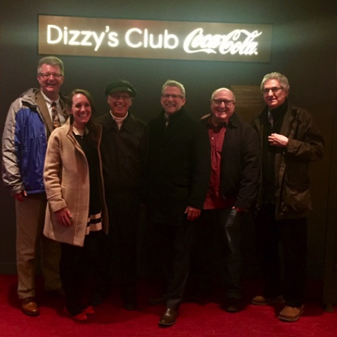 With Jeffrey Papas, Chris Cox and fellow UT alums at Dizzy's Club Coca-Cola  (March 2018)