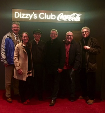 With Jeffrey Papas, Chris Cox and fellow UT alums at Dizzy's Club Coca-Cola March 2018