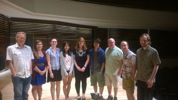 The composer-fellows at the 2015 nief-norf Summer Festival in Knoxville, Tennessee