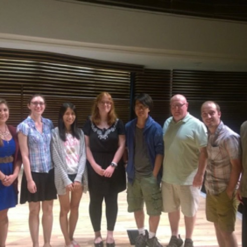 The composer-fellows at the 2015 nief-norf Summer Festival in Knoxville, Tennessee  (June 2015)